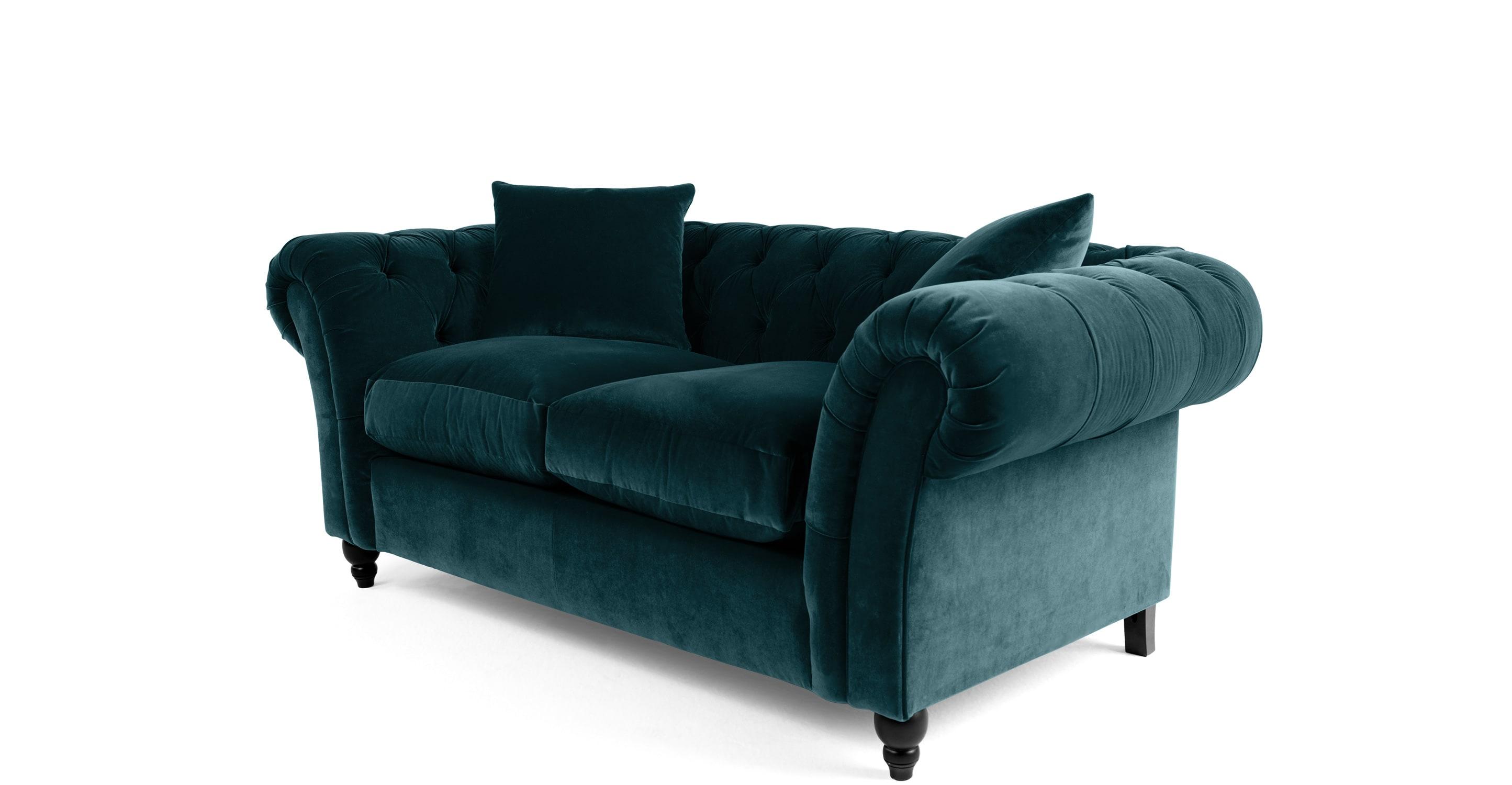blue velvet chesterfield sofa old fashioned name for bardot 2 seater ocean