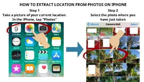 Extract location from photos on iPhone 1