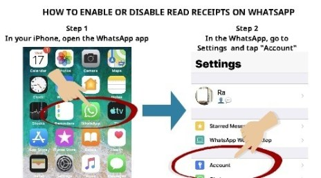How to enable or disable read receipts on WhatsApp step 1 and step 2