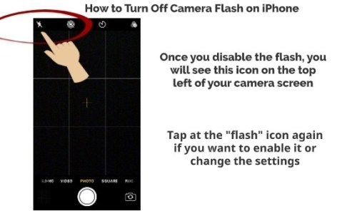 How to turn on iPhone camera flash