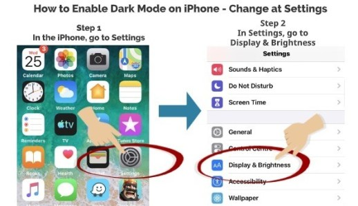 How to Enable Dark Mode on iPhone Change at Settings 1