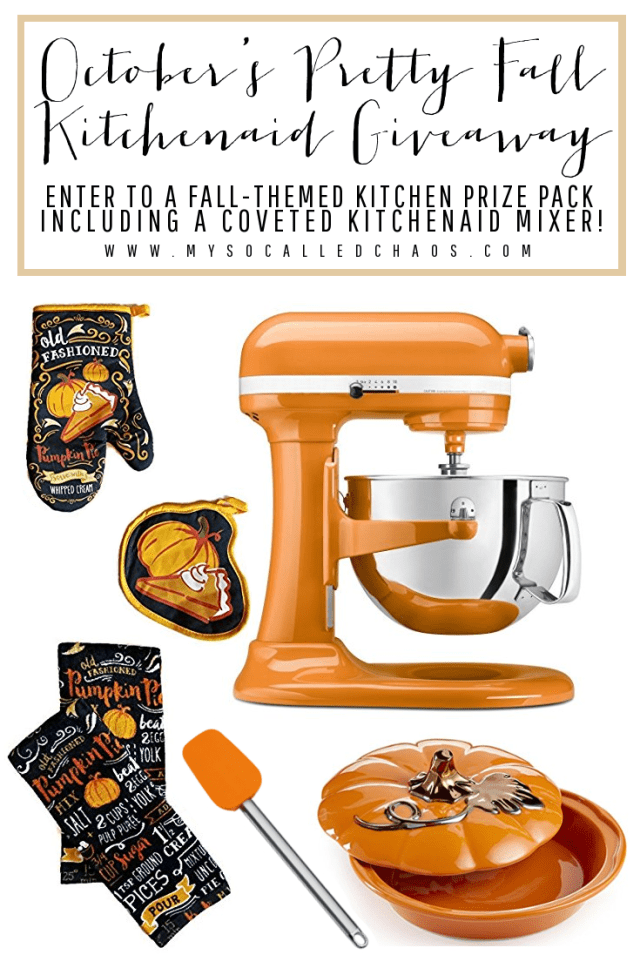 October's Big Kitchenaid Mixer Giveaway