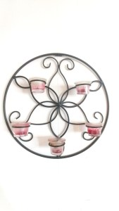 Wait till you see what she did with this! SOO Pretty! Candle Wall Sconce Makeover