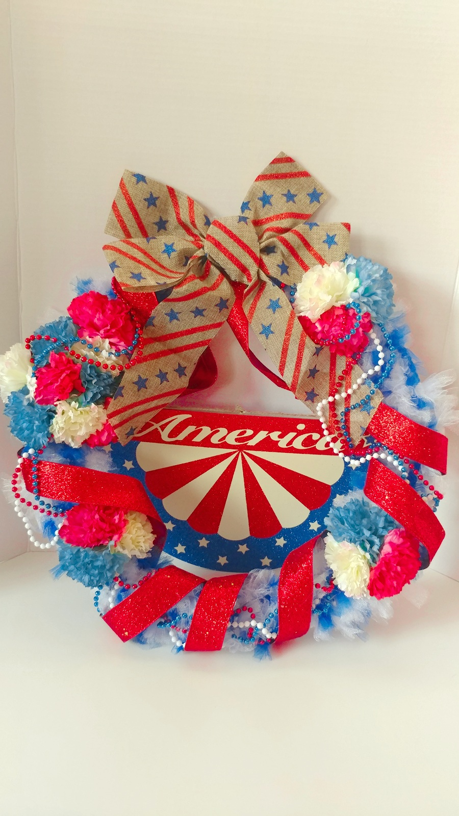 DIY Americana Wreath for 4th of July