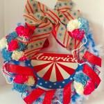 DIY Americana Wreath for 4th of July