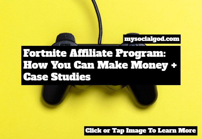 Fortnite Affiliate program