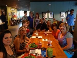 SMMCP Group Dinner at Pittsboro Roadhouse, Spring 2013.