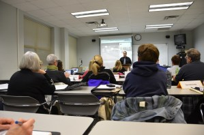 Martin Brossman teaching at the Central Carolina Community College, Pittsboro Campus.