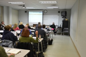 Anora McGaha teaching at the Central Carolina Community College, Pittsboro Campus.