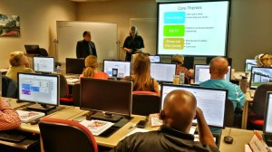 Karen Tiede and Martin Brossman teaching the Social Media Management Certificate Training at NCSU