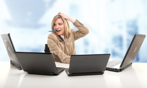 Women Stressed trying to keep up with Social Media information