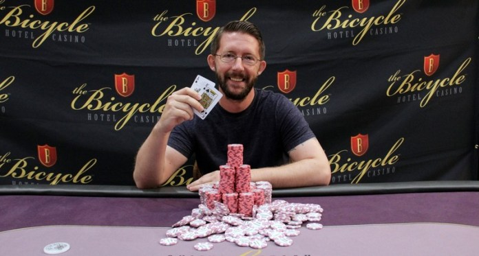 Brad Horner Wins 2017 Card Player Poker Tour Bicycle Hotel and Casino Main Event
