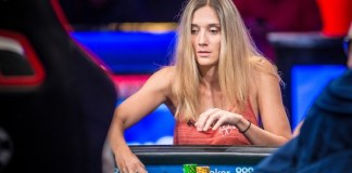 2017 WSOP: Gaelle Baumann Talks Selbst Cooler With Quads Over Aces Full