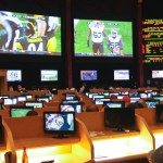 Sport betting at Caesar's Palace   in Las Vegas
