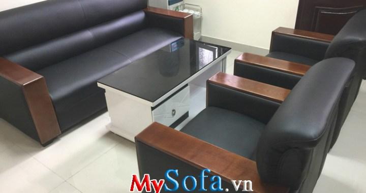 Mẫu sofa đẹp kiểu 1 dài 2 ngắn kê phòng khách gia đình văn phòng công ty