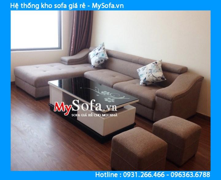 Sofa góc nỉ đẹp cho căn hộ chung cư hiện đại