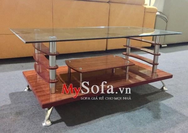 Bàn trà Sofa đẹp giá rẻ 2 tầng AmiA BTR120 | mySofa.vn