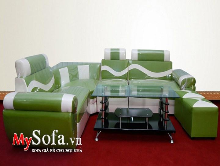 Bộ bàn ghế sofa giá dưới 3 triệu mầu xanh đẹp