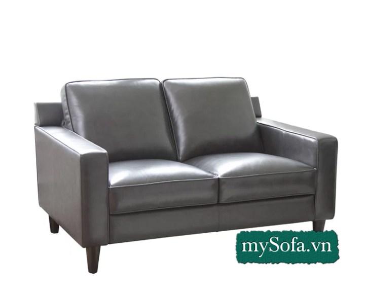 ghế sofa văng da đẹp cở nhỏ 2 chỗ ngồi. MyS-18660