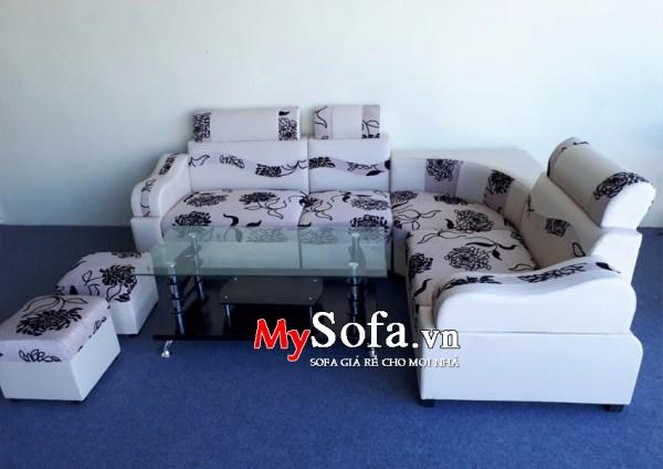 Bộ Sofa da đẹp giá rẻ, mặt nỉ AmiA SFD133