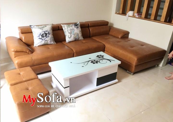 Bộ ghế Sofa da đẹp dạng góc bán chạy AmiA SFD093
