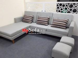 Bộ ghế Sofa nỉ dạng góc chữ L sang trọng AmiA SFN125