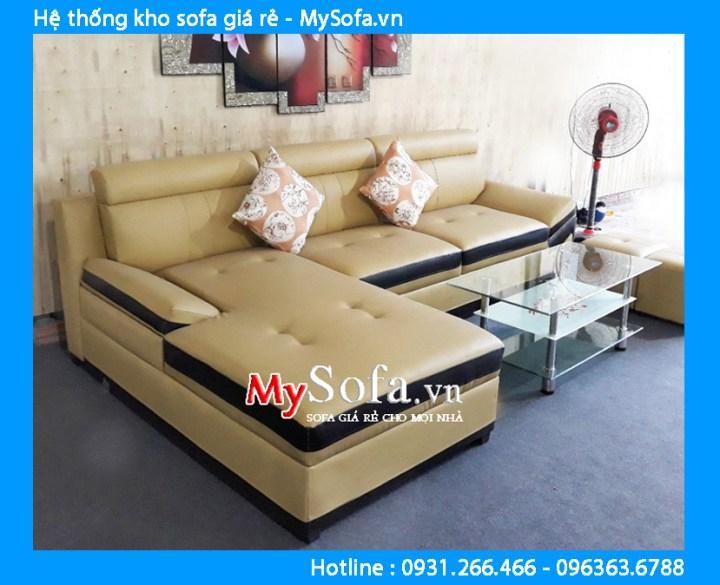 Ghế sofa góc chữ L chất liệu da giá rẻ