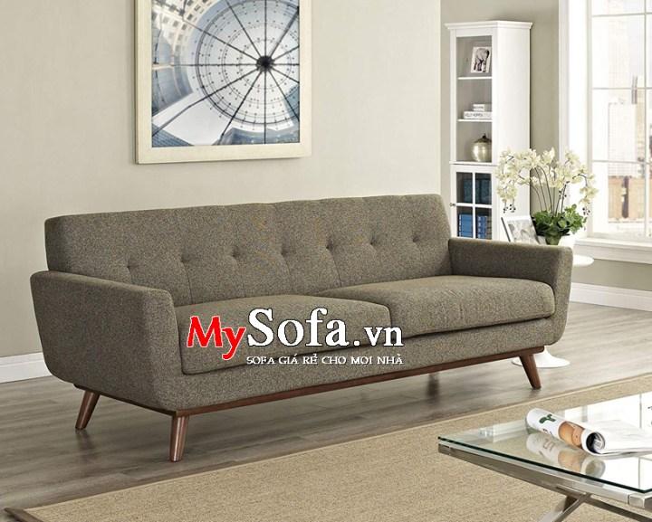 Ghế sofa văng nỉ AmiA SFN095 màu nâu sậm