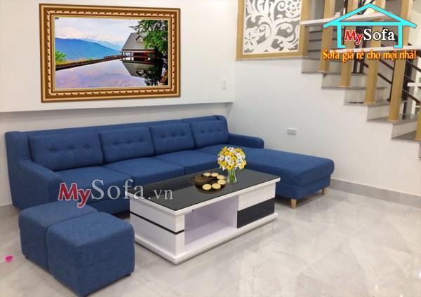 Hình ảnh bộ sofa nỉ đẹp giá rẻ AmiA SFN170