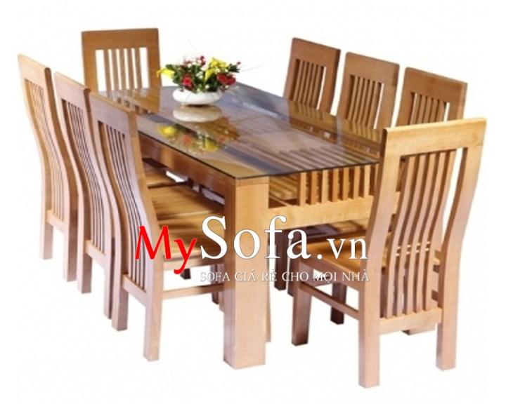 Mẫu bàn ăn gỗ sồi đẹp, hiện đại AmiA BA010 | mySofa.vn