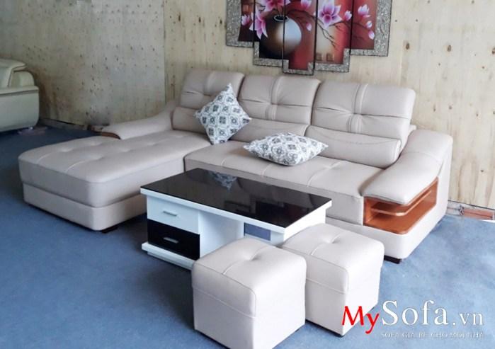 Hình ảnh mẫu Sofa da cao cấp AmiA SFD127
