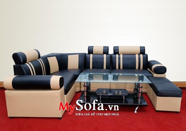 Mẫu ghế Sofa da giá rẻ, đẹp AmiA SFD026