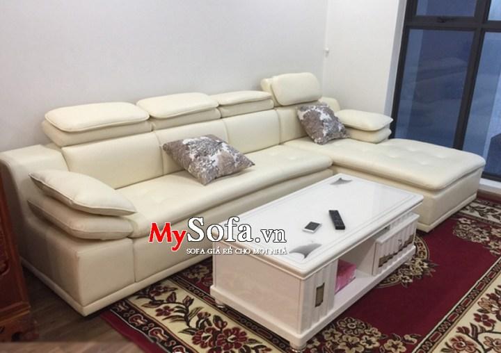 Mẫu ghế Sofa da sang trọng, hiện đại AmiA SFD121