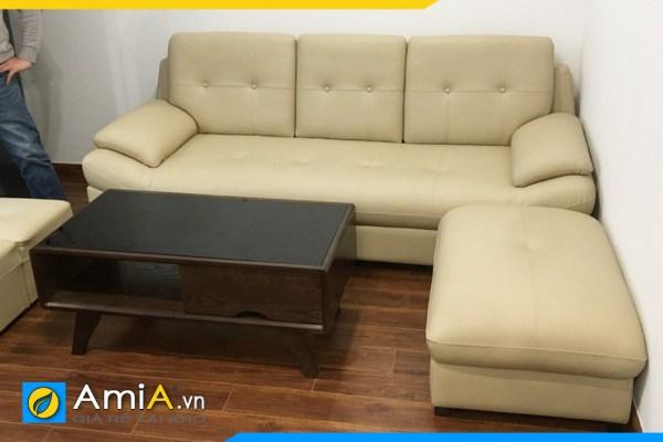 Hình ảnh mẫu ghế sofa văng da tuyệt đẹp chụp tại nhà khách