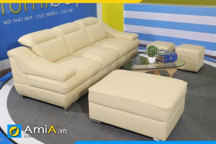 Bộ ghế sofa da nhập khẩu siêu đẹp