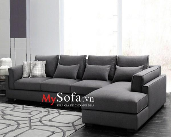 Mẫu Sofa nỉ góc chữ L 4 chỗ cho phòng khách AmiA SFN119