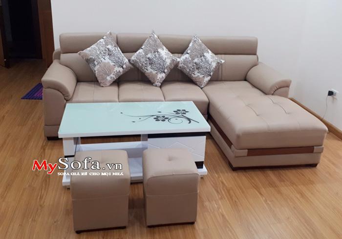 Mẫu ghế Sofa da đẹp, sang trọng AmiA SFD123 | mySofa.vn