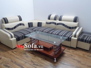 Mẫu Sofa da giá rẻ mặt nỉ AmiA SFD136