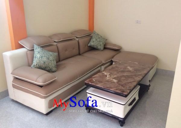 Mẫu Sofa da văng hiện đại, sang trọng AmiA SFV145