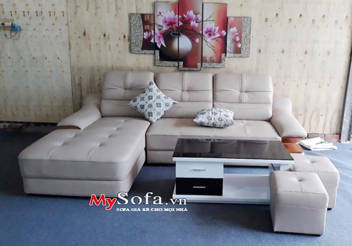 Bộ Sofa da góc hiện đại, đẹp, sang trọng AmiA SFD127