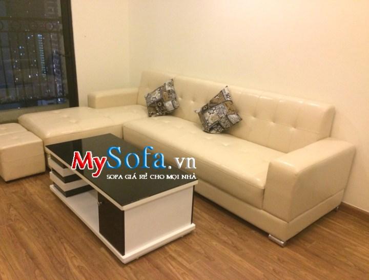 Mẫu sofa đẹp dạng góc kích thước nhỏ kê phòng khách