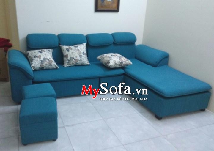 Mẫu Sofa nỉ dạng góc cho phòng khách AmiA SFN069