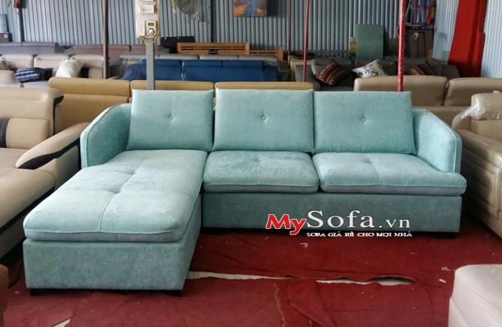 Hình ảnh mẫu ghế sofa nỉ góc chữ l sang trọng AmiA SFN180