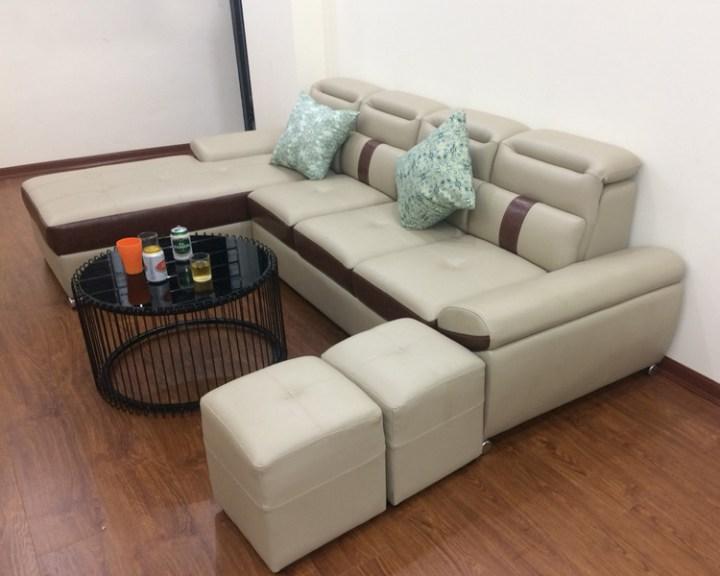 sofa da đẹp kích cỡ nhỏ mini