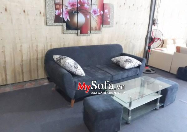 Mẫu Sofa văng chất liệu nỉ AmiA SFV116, dạng mini cho phòng khách nhỏ