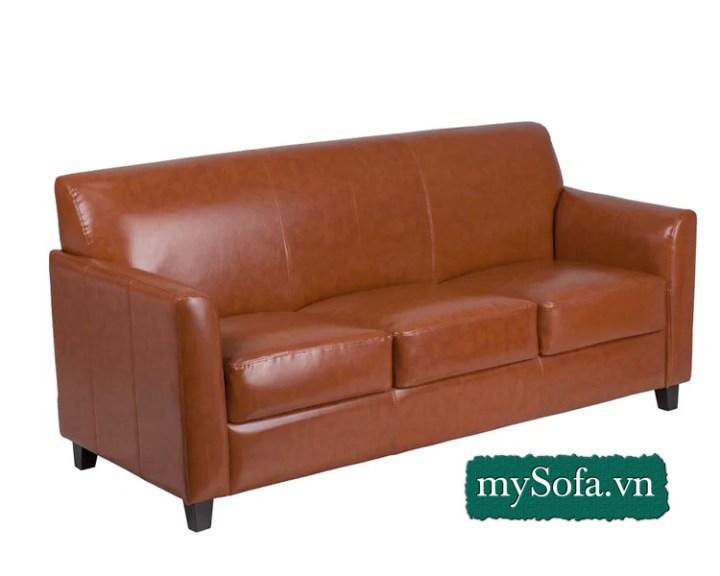 sofa văng da màu nâu da bò MyS-18439