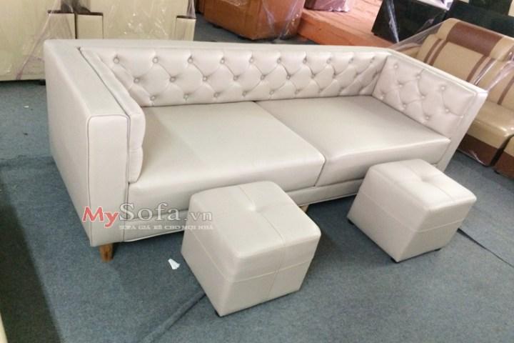 mẫu ghế sofa văng da sang trọng cho phòng khách AmiA SFD164