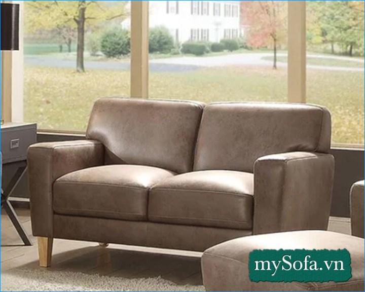 Hình ảnh Mẫu ghế sofa văng nhỏ mini giá rẻ 2 chỗ MyS-18303