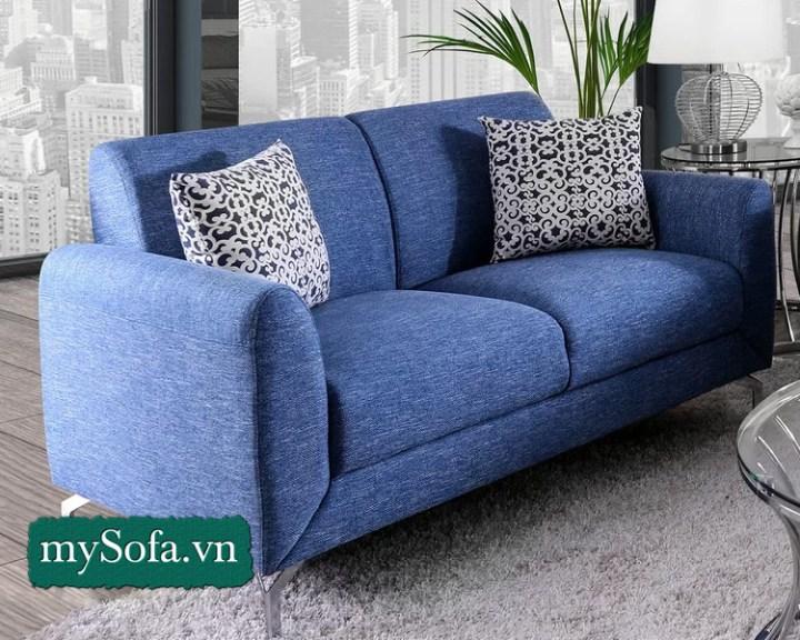 Sofa nỉ với nệm mút dầy êm ái. Mã MyS-25012