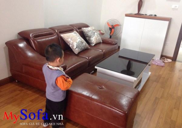 AmiA SFD100A mẫu Sofa da dạng văng mini cho phòng khách nhỏ
